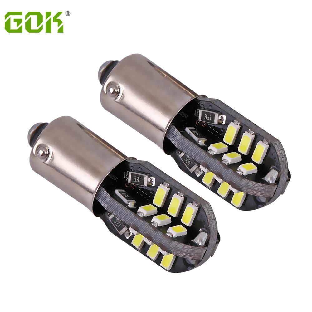 6pcs/lot Free shipping Car Auto LED BA9S canbus T4W led W5W Canbus 24led 3014 smd BAX9S LED Light Bulb No error car led light