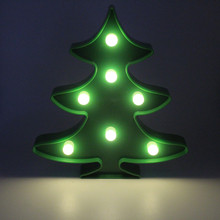 SANHOOII Christmas Tree Night Lamp 20*22cm House Wall LED Light For Room Decoration Kids gift