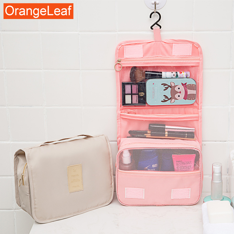 New Waterproof Portable Polyester Travel Cosmetic Bag Neceser Hanging Wash Bag Neutral Make Up Bag Organizer Bathroom Wash BagNew Waterproof Portable Polyester Travel Cosmetic Bag Neceser Hanging Wash Bag Neutral Make Up Bag Organizer Bathroom Wash Bag