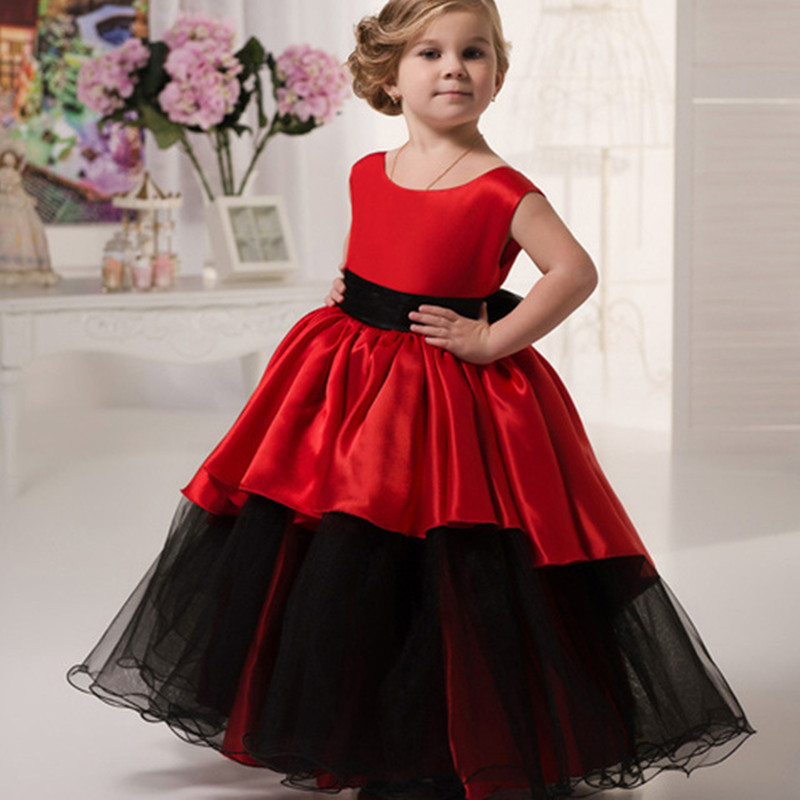 Popular Red and Black Flower Girl Dresses-Buy Cheap Red and Black ...