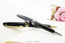 Получить скидку Новый высокое качество Бизнес цвета: золотистый, серебристый металлический зажим шариковая ручка Parker стиле пополнения ручка школьные принадлежности подарок