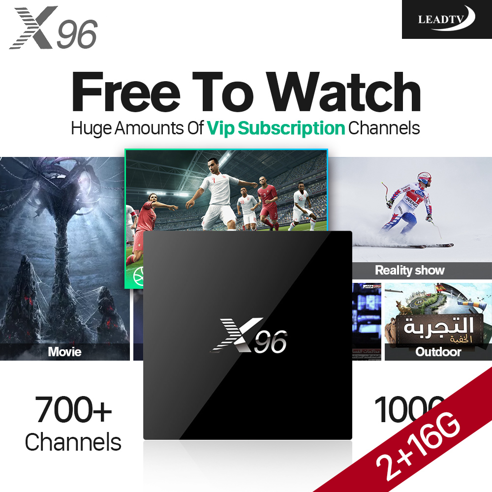 4K Smart Android TV Set Top Box S905X 2G+16G IPTV Box IPTV Subscription 1 Year 700+ IPTV Arabic Europe UK Channels