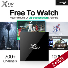 4K Smart Android TV Set Top Box S905X 2G+16G IPTV with HD Subscription 1 Year 700+ Arabic Europe UK Sport Channels