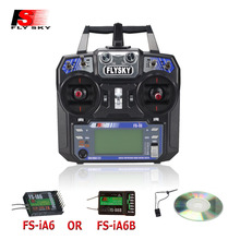 Flysky transmetteur de radiocommunication FS i6 FS I6, 2.4G 6ch, contrôleur FS iA6 ou FS iA6B, pour hélicoptère RC, avion quadrirotor, drone planeur