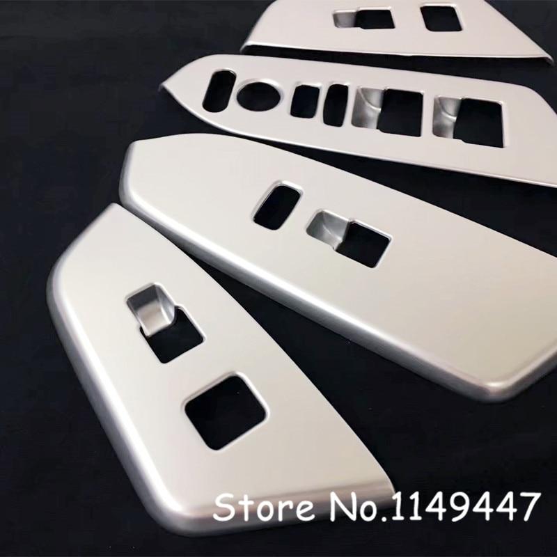 Left-Hand Drive Car! Matte Interior 4pcs Car-Styling Window Lift Button Accessories Cover Trim For Honda CRV CR-V 2017 2018 left handle drive car abs matte interior