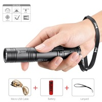 WUBEN Led Flashlight Tactical Torch 18650 Battery USB Rechargeable Lights Waterproof Led Lamp CREE Portable Camping