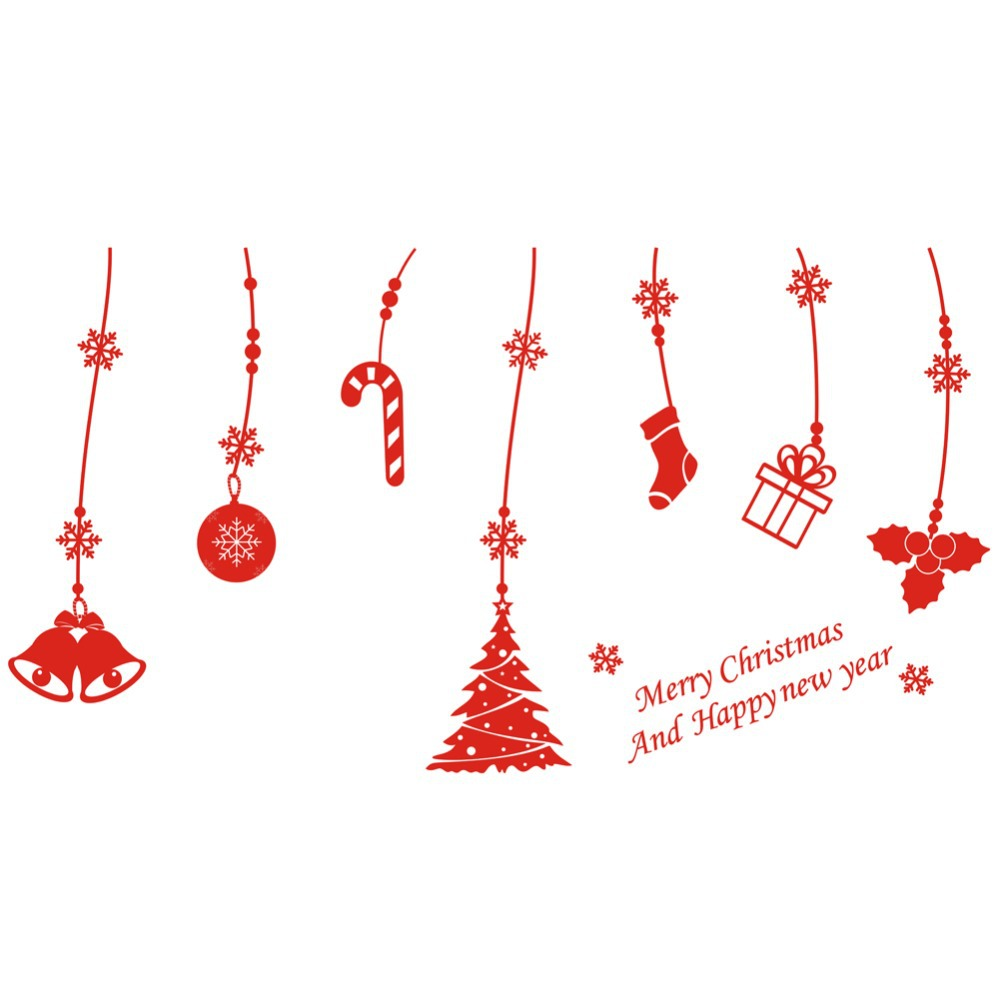 Merry Christmas Decorations merry xmas decal christmas decorations window stickers new year