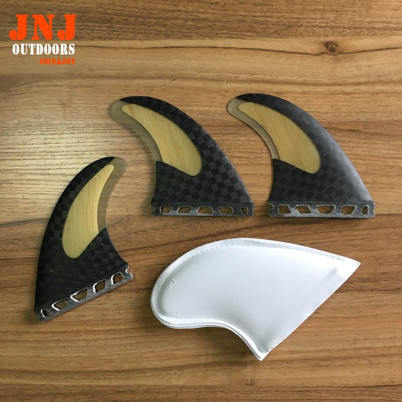 Livraison gratuite de haute qualité carbone bambou planche de surf surf ailettes table AVENIR G5 M ailettes