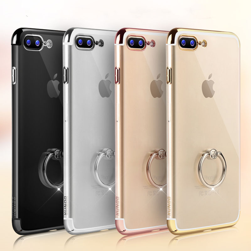 bilder für Für iPhone 7 7 Plus Phone Cases Brand Xundd Luxus Transparent Klar harte PC Zurück Abdeckung Ring Halter Fall Für iPhone 7 7 Plus