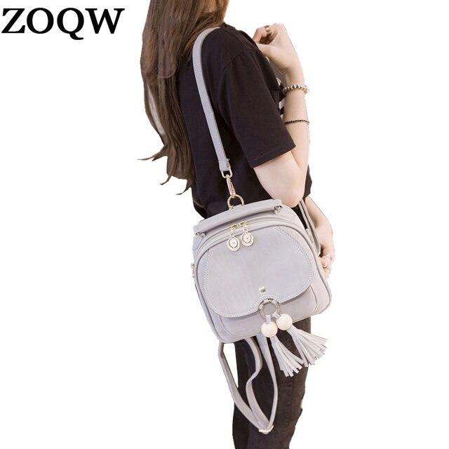ZOQW модный мини рюкзак женский кожаный Rugzak женские рюкзаки для девочек маленький тарвел рюкзак черные школьные сумки mochila WYQ491