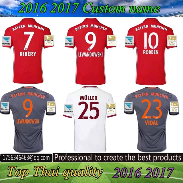 6145cdc5 ... greece free patches 2017 aaa top best qualit bayerning muniching adult  short sleeve soccer jersey 16