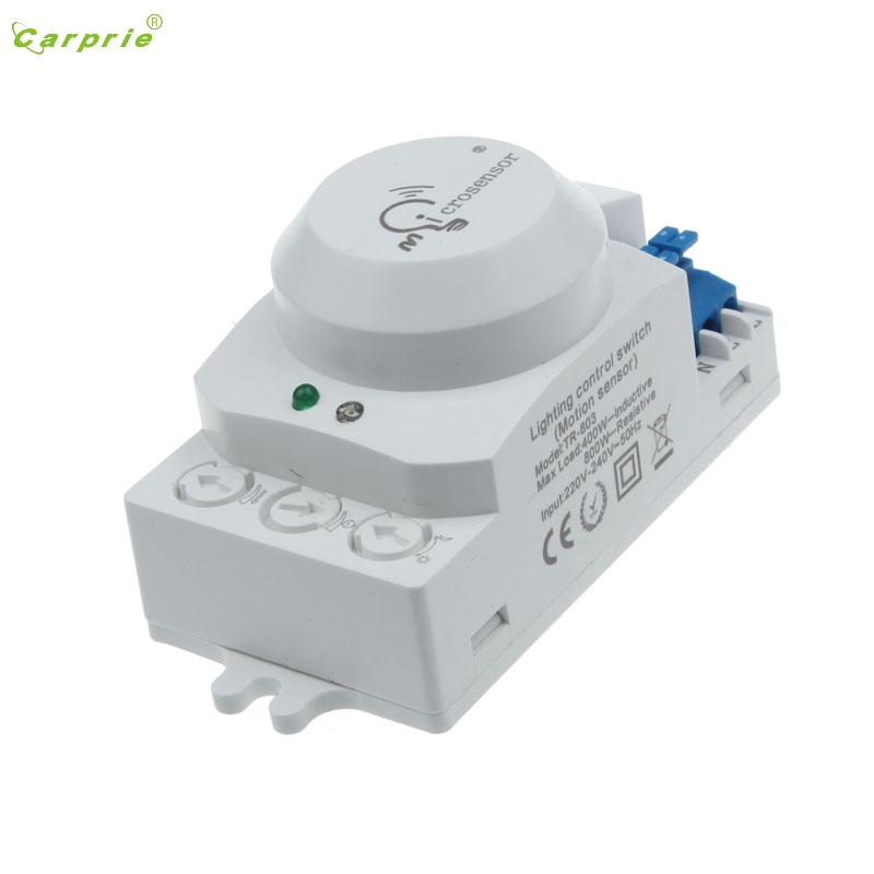 CARPRIE 220V 5.8GHz Microwave Movement Motion Detector Sensor Switch For Light L70307 DROP SHIP original optex microwave sensor microwave detector