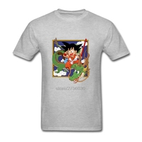 Dragon Ball Z Tshirt Moda Cornice del Viso Di Capretto Son Goku T camicia Stile Anime Tee Ride On Verde Dio Drago Mens T Shirt