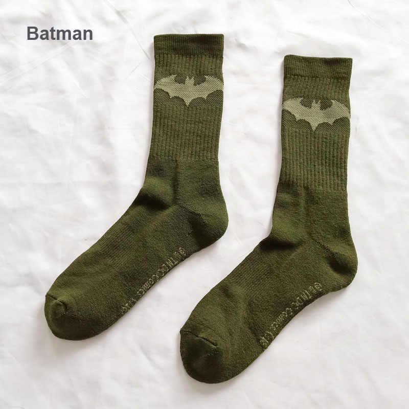 3c35d7699 ... Wonder Woman Punisher Knee-High Socks Batman Captain America Cosplay  Socks Men Personalized Sokken Warm ...