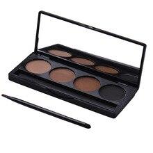 4Colors Eyeshadow Eyebrow Palette Glamorous Matte Smokey Long-lasting Waterproof Powder Nose Eye Shadow Palette Makeup Set