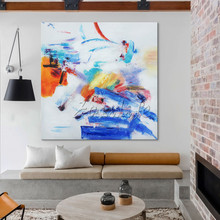 Canvas painting wall art decor quadro abstract painting wall pictures for living room modern abstract blue
