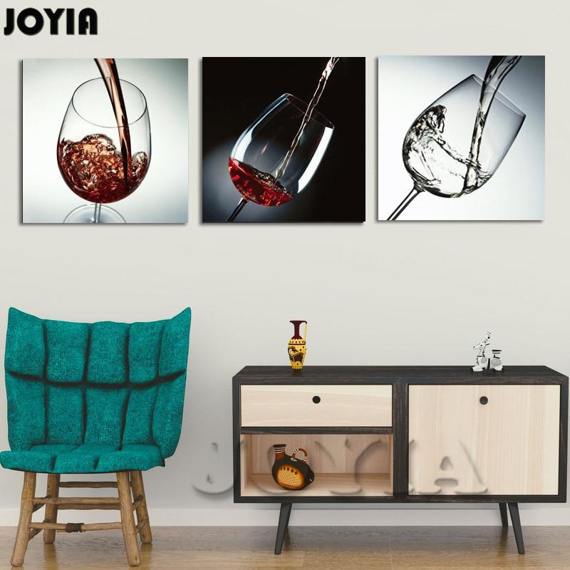 Moderne Wand Dekor Painting Esszimmer Dekorative Bilder Rotwein Glas  Leinwand Kunst Bar Dekoration 3 Teile/los Nicht Eingerahmt In Moderne  Wand Dekor ...