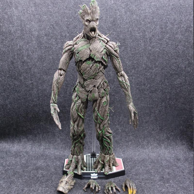Hot Toys Marvel Guardians of The Galaxy Tree Man Avengers 40cm Big Size BJD Action Figure Toys цена