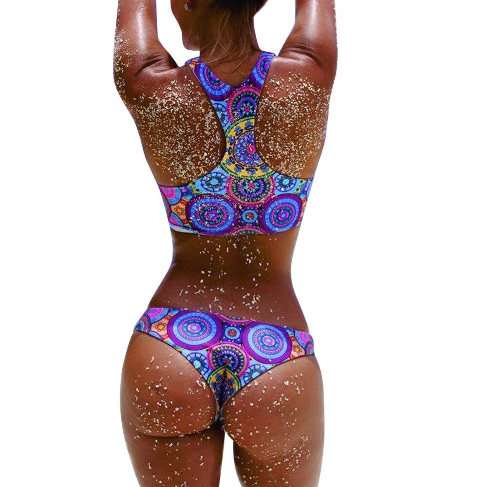 Hot Sexy Women Bikini Set Push Up Padded Swimwear Swimsuit Bathing Beachwear Bohemia Printing Top and Bottom Bikinis Suit 2017 new sexy summer female women bow padded bra push up padded bikini set swimwear swimsuit bathing beachwear hot 7 colors suit