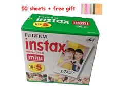 5 Pack Original Fujifilm Instax Mini 8 Film 7s 25 50s 90 Polaroids 300 Instant White Edge Photo Paper Fuji Film Camera 50pcs