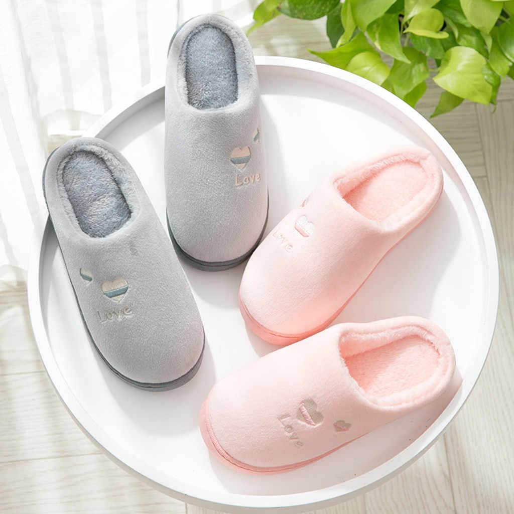 חמוד אהבת נעלי בית נשים של בית נעלי שינה מקורה נעל נשים רך תחתון נעליים נוחות zapatos de mujer זרוק