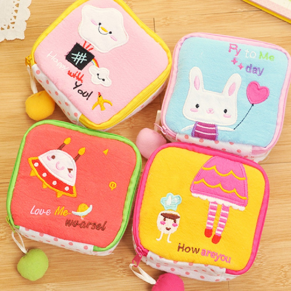 New Best Deal New Fashion Women Cute Sanitary Pad Organizer Holder Napkin Towel Convenience Mini Coin Bags Gift 1PC maison fabre best deal new fashion women cute sanitary pad organizer holder napkin towel convenience mini coin bags gift 1pc