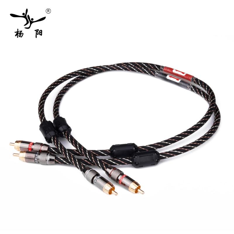 YYAUDIO HIFI Stereo Paar High-leistung Premium Hallo-fi Audio rca to rca Verbindungskabel