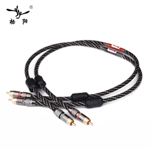 YYAUDIO HIFI Stereo Pair RCA font b Cable b font High performance Premium Hi Fi Audio