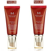 Hot100% original import from korea Makeup MISSHA PERFECT COVER #21+#23 BB cream SPF42 50ml new with box face cream