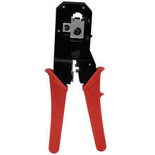 CNCOB Cable Crimper,RJ45 8P8C Ethernet Connector Crimp Tool, RJ11 RJ12 6P6C Phone Cord Connector Crimp Pliers, Stripping