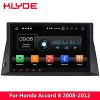 KLYDE 10,1 ips 4G Android 8,0 Octa Core 4G B Оперативная память 32 ГБ Встроенная память dvd плеер автомобиля радио gps для Honda Accord 8th 2008 2009 2010 2011 2012