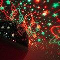 Romântico Led Night Lâmpada Rotativa Rotação Starry Sky Estrela Lua Noite Luzes de Iluminação Da Lâmpada Do Projetor Crianças dos miúdos Do Bebê Dormir
