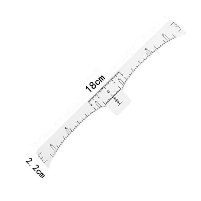 50Pcs Disposable Eyebrow Stencil Makeup Microblading Measure Tattoo Ruler Beauty Tool 2U912 2