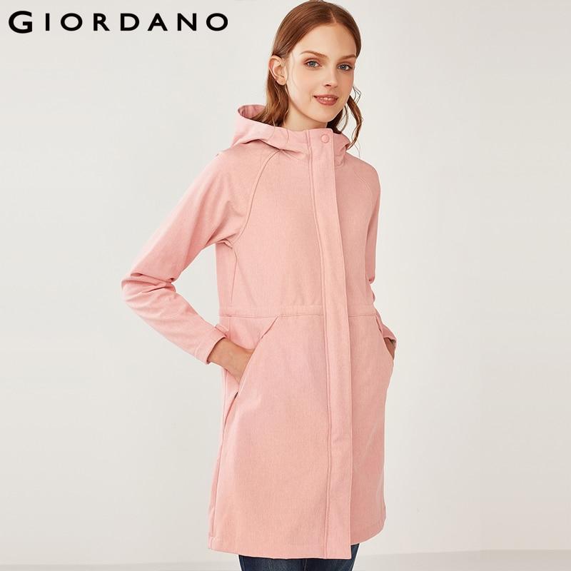 Джордано Для женщин куртка Для женщин флисовая подкладка куртка Для женщин с капюшоном Casaco Feminino ветрозащитный эластичный пояс Chaqueta Mujer
