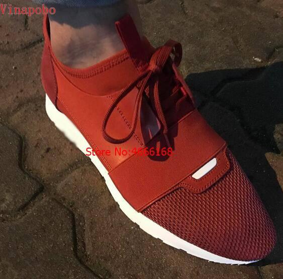 2019 جديد منخفض أعلى خليط الجلود شبكة حذاء رياضة الجملة الفاخرة العلامة التجارية سباق عداء حذاء كاجوال رجل امرأة مدرب أحذية حجم 46-في أحذية رجالية غير رسمية من أحذية على  مجموعة 3