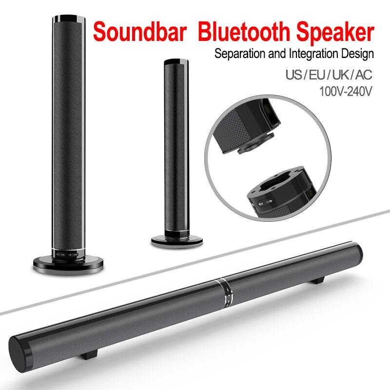 3 pièces vente en gros 2 en 1 3D surround multicanal Audio barre de son lecteur MP3 Bluetooth sans fil stéréo Bar TV haut-parleur