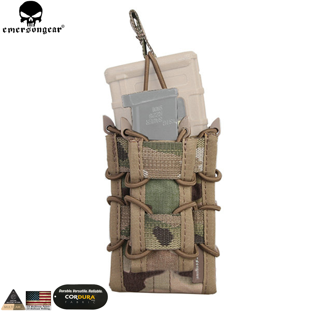 Emersongear 5.56 Double Magazine Pouch for Rifle M4 / M14 / AK /G3 Pistol M92 /1911/HK45 Multicam Airsoft Molle Mag Pouch Holder