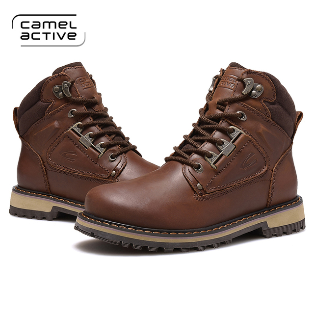 13f73f3628 Camel Active warm winter men's casual shoes, leather men's casual Martin  boots,Men's Outdoor cotton boots