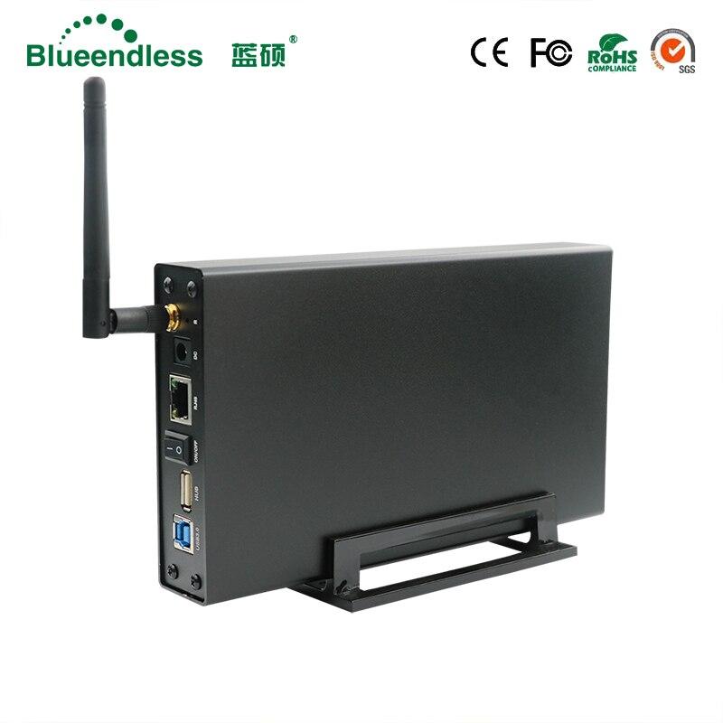 Routeur wifi RJ45 SATA USB3.0 sans fil répéteur wi-fi Extender Disque Dur HDD 3.5 disque dur 1 TB/2 TB/3 TB 5 GBPS disque dur externe Cas
