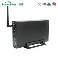 Wi Fi роутера RJ45 SATA USB3.0 Беспроводной Wi Fi ретранслятор Extender жесткий диск HDD 3,5 Жесткий диск 1 ТБ/2 ТБ/3 ТБ 5 Гбит/футляр для внешнего накопителя HDD