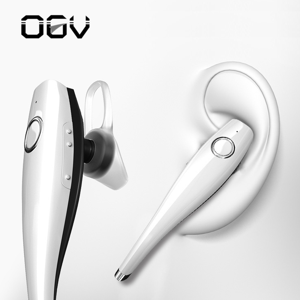 OGV Bluetooth Earphone With Mic Wireless Car Earphone Stereo Bluetooth Headset Hands-Free Earbuds Hook For iPhone Xiaomi ravi a8 wireless bluetooth earbuds airpods with usb car charger handsfree bluetooth earphone with mic for smartphone dd