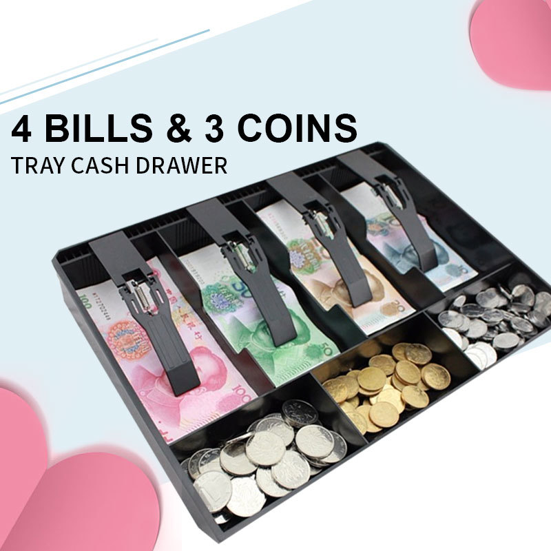 Money Cash Coin Register Insert Tray Replacement Cashier Drawer Storage Register