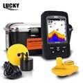 LUCKY 328ft/100 m profundidad 2-en-1 Wired & Wireless Fishfinder Transductor Sonar Sensor Portátil Buscador de Los Pescados Impermeable FF718LiC