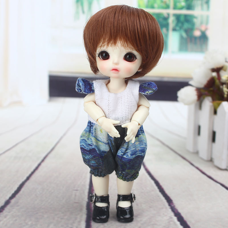 2019 New Arrival short hair for <font><b>1/8</b></font> 5-6inch <font><b>Bjd</b></font> SD ob11 small <font><b>Doll</b></font> high temperature fiber <font><b>Wig</b></font> For <font><b>Dolls</b></font> Accessories image