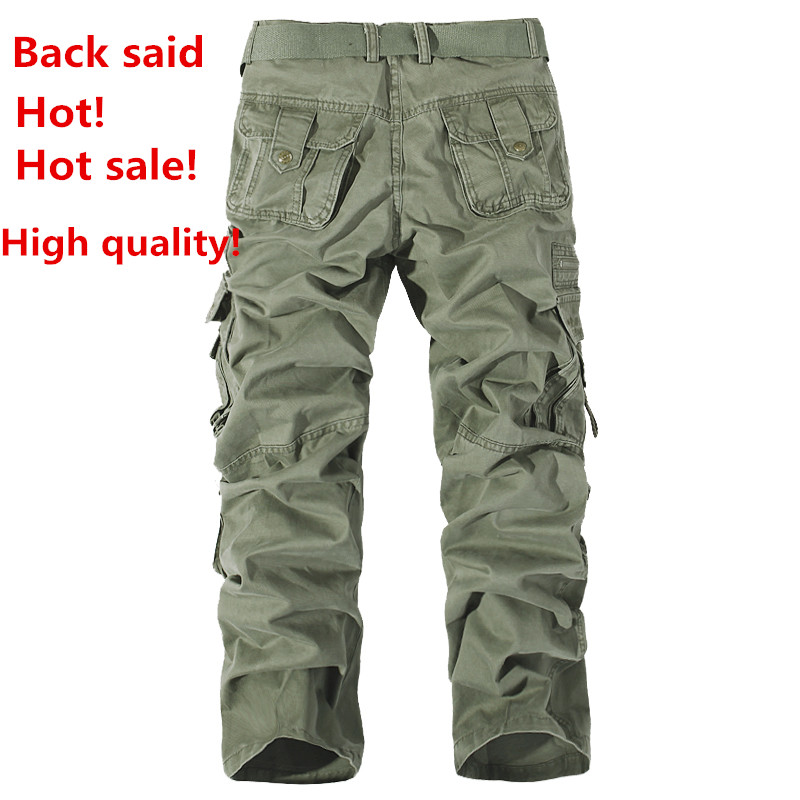 New 2016 Men Fashion Military Cargo Pants Casual Straight Long Baggy Loose Army Outdoor  ...