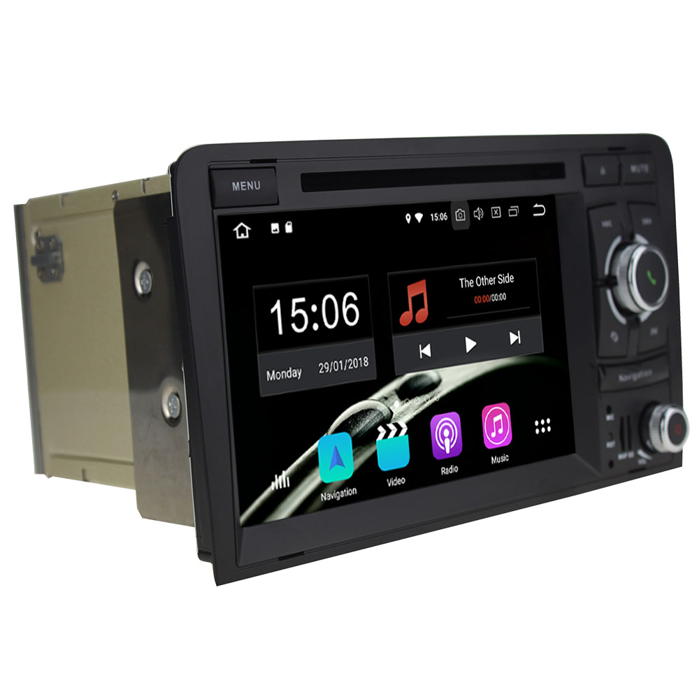 Octa Core 4GB RAM 32GB ROM Android 8.0.0 Car DVD Player GPS Navi Navigation Android for Audi A3 RS3 S3 2003 2004 2005 2006-2013