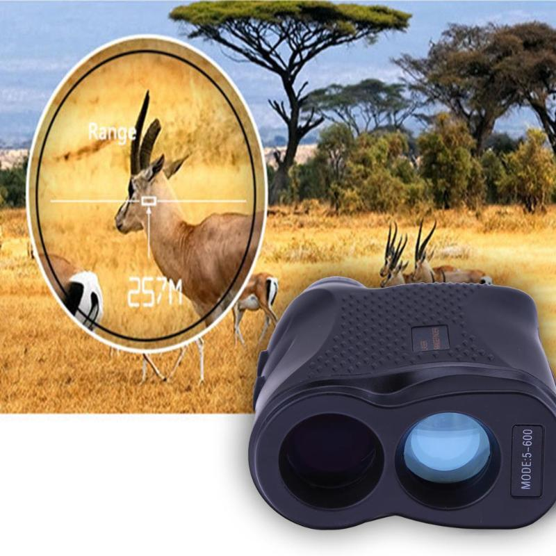 600M Monocular Telescope Laser Rangefinder Speed Meter Hunting Golf Outdoor Sports Laser Range Measuring Instruments Waterproof