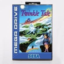 Twinkle Tale 16 bits MD Carte de Jeu Avec la Boîte de Détail Pour Sega Mega Drive/Genesis