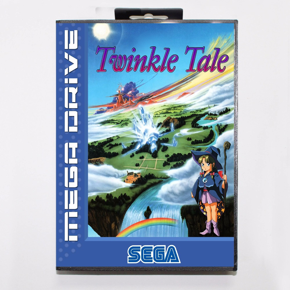 Twinkle Tale 16 bit MD Game Card With Retail Box For Sega Mega Drive/ Genesis