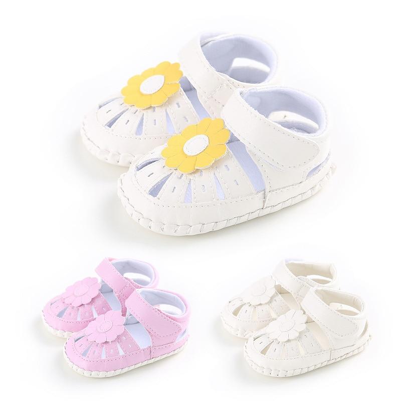 2017 новое прибытие Впервые Уокер Летняя школа shoes 0-18 месяцев девочка shoes plastic non-slip цветок принцесса цветок сандалии